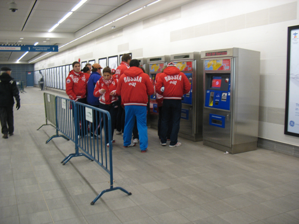 This team from Russia was spotted using the Vancouver City Centre ticket machines!