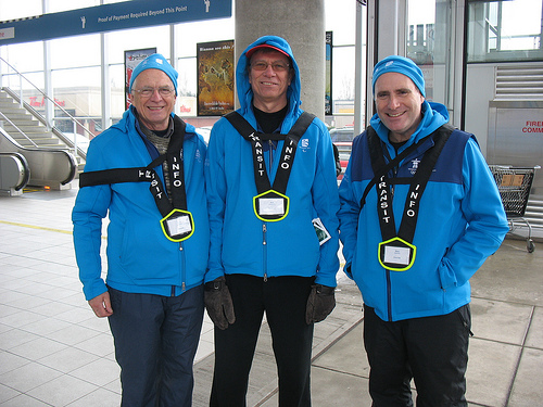 Dale, Bob, and Mike, our transit hosts at Aberdeen!