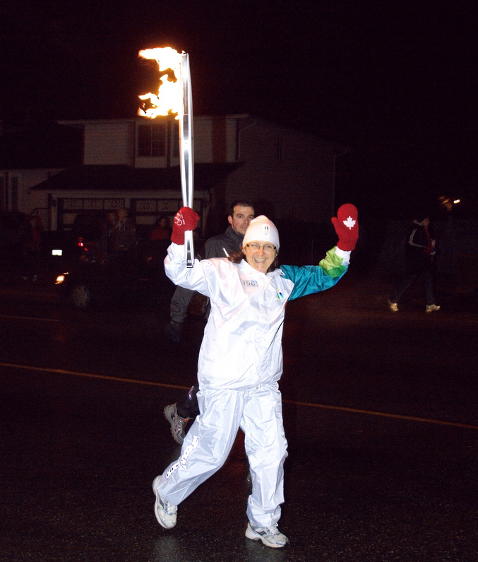 Annie from CMBC in the torch relay!