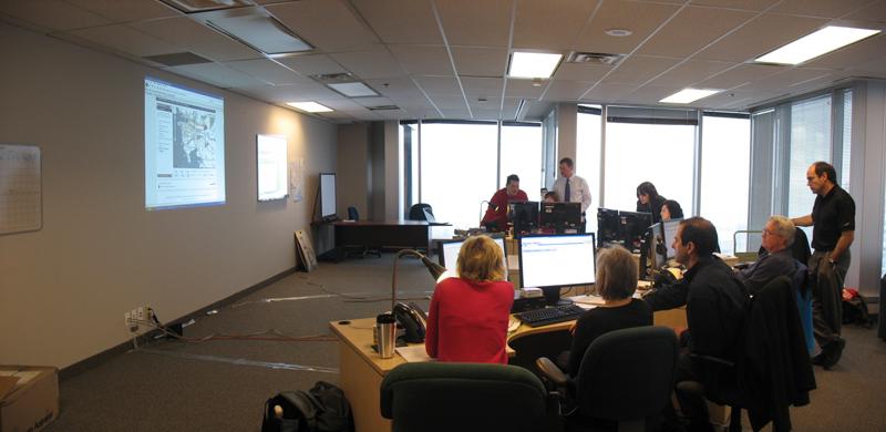 TransLink's Olympic communications centre.