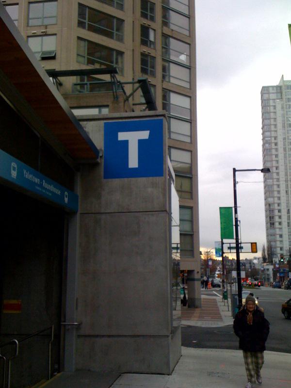 Yaletown-Roundhouse signage.
