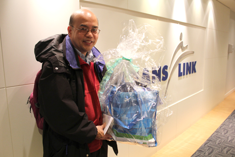 Don, the winner of the YVR gift basket!