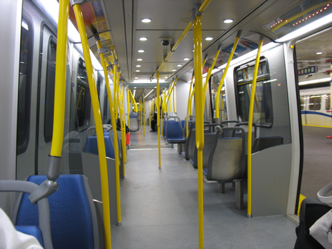 The Expo Line car was not busy either.