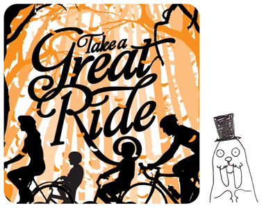 Tobias sent along this self-portrait, which I've put next to his Great Ride illustration!