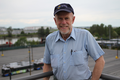 Longtime trolley driver Angus McIntyre will be retiring at the end of May! (We made sure to get the trolleys in the background of this picture :)