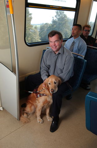 Rob in one of our SkyTrain Mark II vehicles.