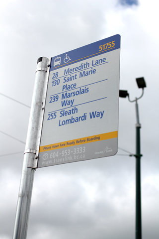 The sign dedicated to Rob and three others at Vancouver Transit Centre!