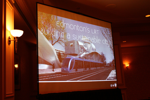 First slide from the Edmonton update.