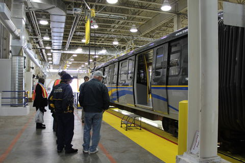Getting a feel for the new SkyTrains.