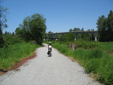 The Central Valley Greenway in Burnaby.