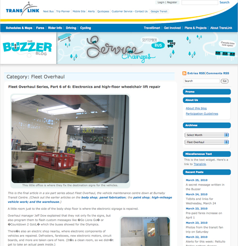A mockup of the new Buzzer blog design!