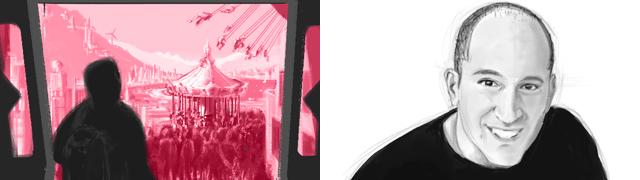 The cover of the June 2011 Buzzer and the illustrator Erick Villagomex