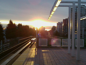 Joyce-Collingwood SkyTrain Station at dawn