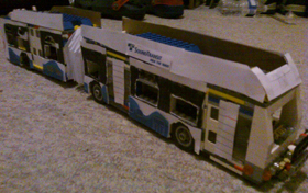 An articulated SoundTransit bus by TransLink fan Daniel Nguyen