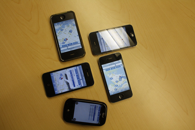 Phones used to test the mobile site