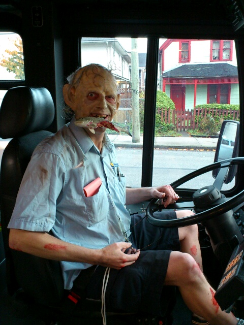 Scary bus drier