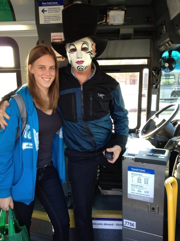 Masked bus operator