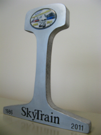 SkyTrain Commemorative Rail