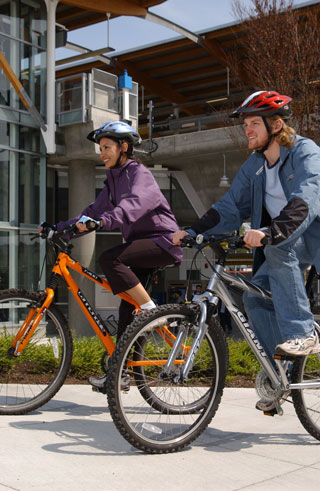 Use tranit as part of your cycling commute or use your bike the whole way to work!