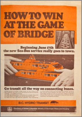 An old advertisement for the SeaBus.