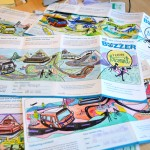 A few examples from our pile of entries for our I Love Transit Week colouring contest.