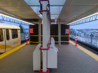 The east side entrance/exit of Main Street-Science World Station is temporary closed