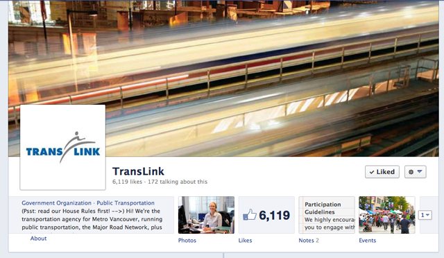Join us on the TransLink Facebook page for a real-time chat with Peggy Gibbs today!