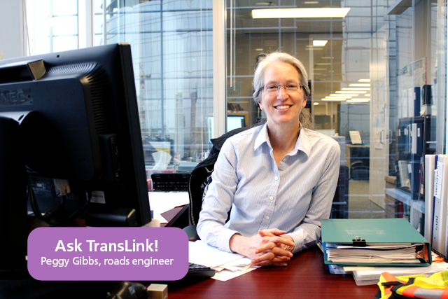Peggy Gibbs, TransLink roads engineer!