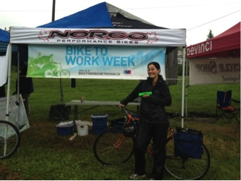 Lisa Chin stops in at a celebration station.