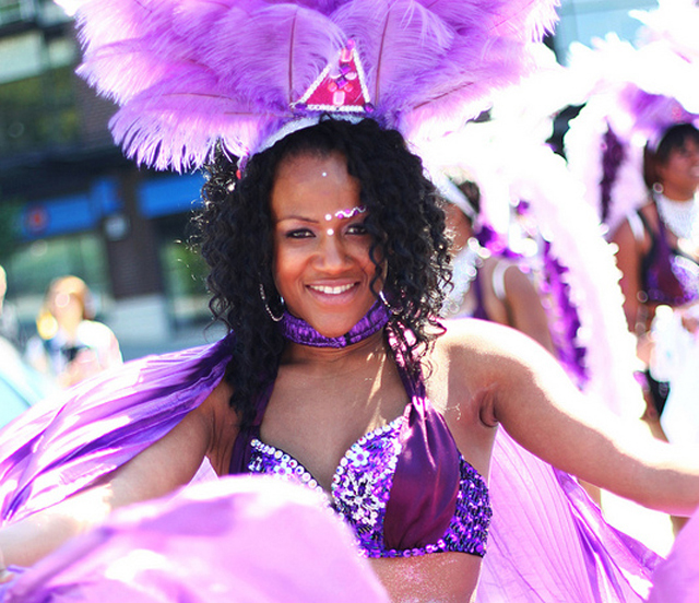 photo of woman in Carnival costume as Caribbean Days