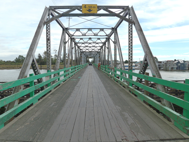 West end of the Westham Island Bridge truss