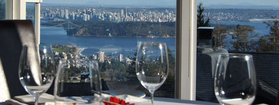 Enjoy a beautiful panoramic view at Fraiche Restaurant