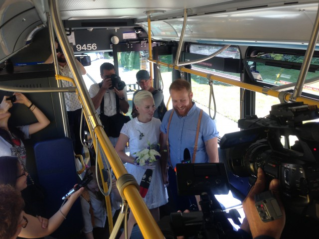 TransLink bus wedding