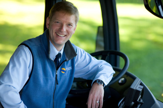 Photo of bus operator Brian Revel