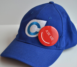 A Compass hat worn earlier this year at an info session. Sorry, I don't have any to give away :(