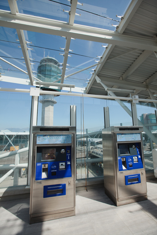 Ticket vending machines at YVR.