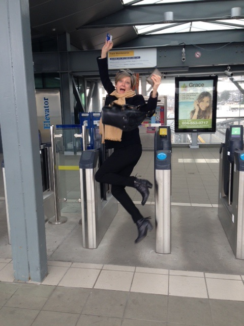 A TransLink employee, Joanne Proft, was REALLY excited to use the fare gate.