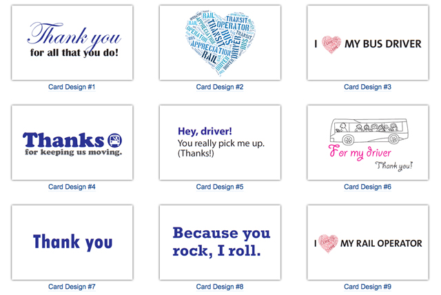 Downloadable Bus Driver Appreciation Day Cards