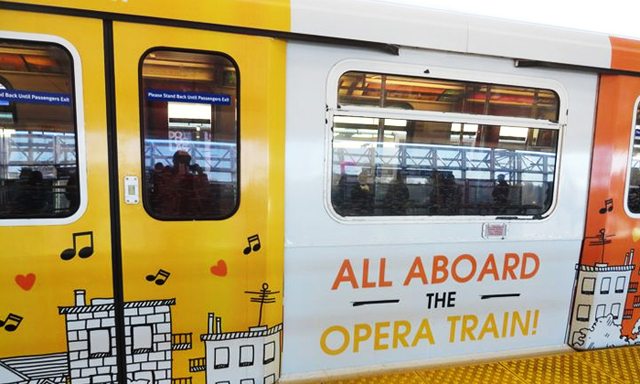 Get a little culture on the rail this weekend with the Opera Train!