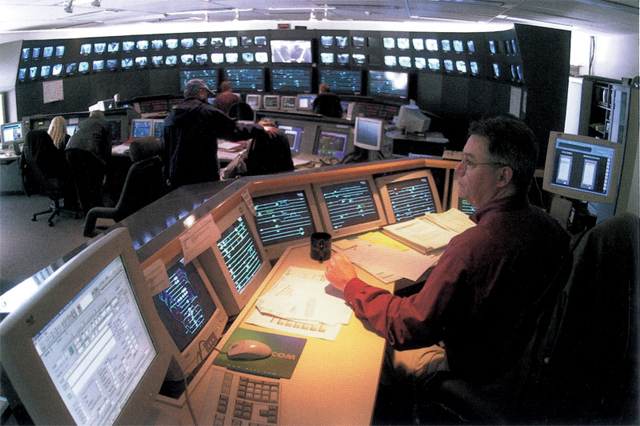 A shot of what things looked like around 1999 in SkyTrain control