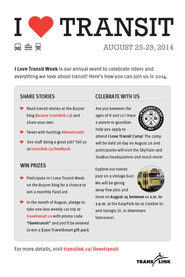 I Love Transit 2014 Flyer