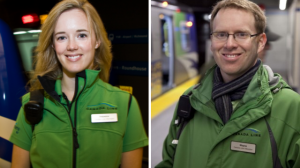 Two of our many dedicated Canada Line staff members!