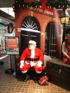 Meet Santa and have egg nog at the North Pole Station!