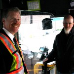 Mike Madill, CMBC and Nathan Woods, Unifor 111 are working together to protect the safety of operators and passengers.