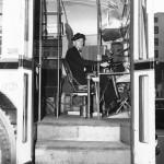 Trolleybus operator, 1945