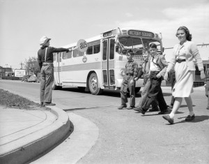 BCE bus with school children 1948