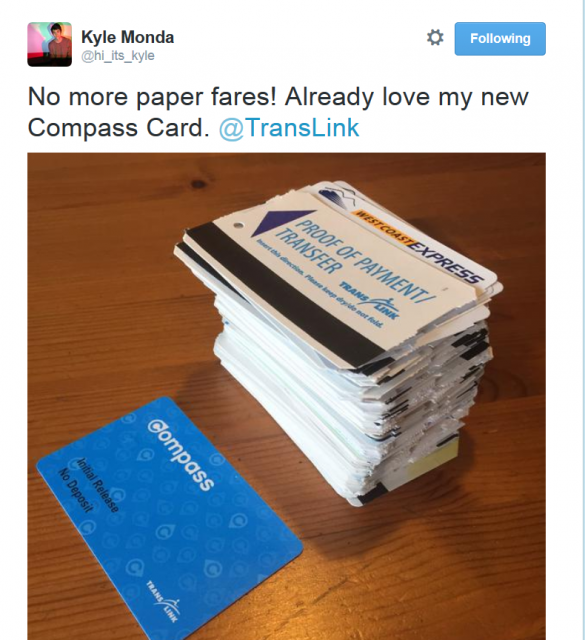 Compass Card vs. paper transfers