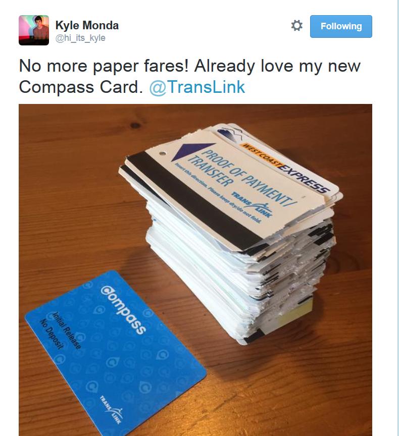 Compass Card vs. paper transfers