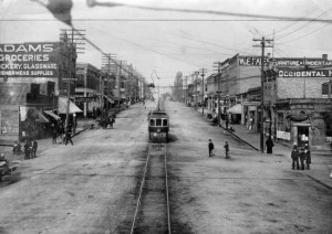 Streetcar on Columbia St ca. 1900
