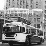Trolleybus testing, 1945